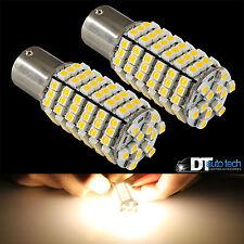 10X 1156 BA15S RV Trailer 12V LED Lights Bulbs 120 SMD Warm White