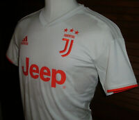 Adidas 2019-20 Juventus Authentic Away Soccer Jersey White Red Camo Sz M $90