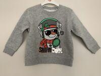 Boys NEXT Age 3 Years Musical Christmas Jumper Grey Snowman