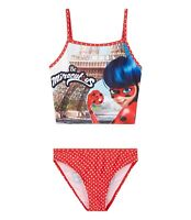 Girls Miraculous Tales of Ladybug & Cat Noir Swim Suit Swimwear Bikini Red