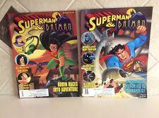 Lot of 2 Superman & Batman Magazine (Spring/Vol. I #4) & (Winter/Vol. I #3) 1994