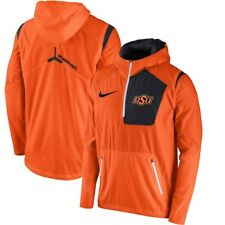 Nike Oklahoma State Cowboys Orange Sideline Vapor Fly Rush Half-Zip Jacket MED