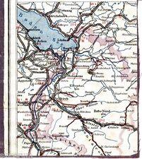 Vorarlberg Hohenems Bludenz 1928 Auto-Teilkarte/Ln. Bregenz Feldkirch Bodensee
