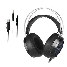 Luxon USB LED Gaming Headset with Microphone Surround Stereo for PC/MAC/PS4/XBOX