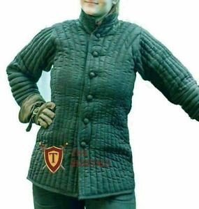 Medieval Gambeson Thick Padded theater costume Female armor Women LARP SCA