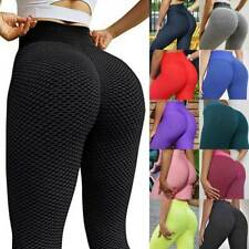 Anti-celulitis Mujer Pantalones de Yoga Leggings cintura alta fruncido trasero elevador Fitness PP3