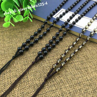10PCS Glass Hand Woven Braided Beads Jade Rope String Cord Rope Pendant Necklace