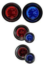 Prosport 52mm EVO Car Boost 3 Bar + Oil Pressure + Oil Temp Red Blue Gauges