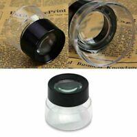 10x Juwelier Schmuck Lupen Vergrößerungs-glas-Labor Lup D9X8 Uhrmacher Repa W3R3