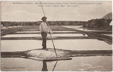 Marais Salants du BOURG de BATZ à SAILLÉ (44) - Paludier prenant le sel