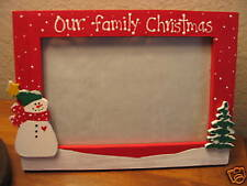 Christmas frame OUR FAMILY CHRISTMAS Christmas personalized photo picture frame