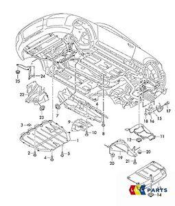 NEW GENUINE AUDI TT MK2 8J DIESEL PETROL ENGINE UNDERTRAY COVER FIXING SET
