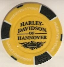 HANNOVER, GERMANY HARLEY DAVIDSON POKER CHIP (YELLOW & BLACK)