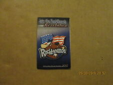 Midland Rockhounds Vintage Circa 2000 Team Logo Baseball Pocket Schedule