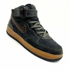 Nike Air Force One AF1 Mid Inside Out Grey W/ Brown Leather Shoes Men's Size-8.5
