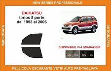 pellicola oscurante vetri dahiatsu terios 5p dal 1998-2006 kit anteriore