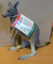 AUSTRALIAN ANIMAL SOUVENIR GREY KANGAROO LARGE REPLICA 17cm Long - PACK of 3