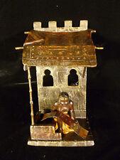 COLD PAINTED VIENNA BRONZE ORIENTALIST LADY RUG SELLER LAMP STYLE OF BERGMAN