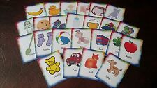 BABY- 24 FIRST PICTURE + WORD FLASH CARDS - FIRST LEARNING VISUALLY EYECATCHING
