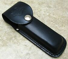 "Case Cutlery 5"" Harley Davidson Leather Folding Knife Belt Sheath Pouch"