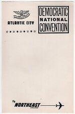 1964 DEMOCRATIC NATIONAL CONVENTION Stationery LBJ Atlantic City NORTHEAST AIR