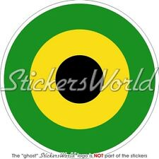 """JAMAICA Jamaican Defence Force Air Wing Aircraft Roundel 4""""(100mm) Sticker Decal"""