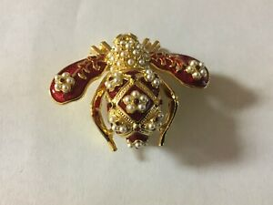 Joan Rivers Faberge Bee Pin