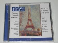 GEORGES DELERUE/QUATUORS À CORDES 1&2(DCM-CL201)CD ALBUM NEU