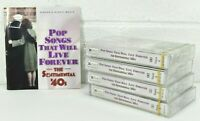 Pop Songs Sentimental 40s  4 Sealed Cassettes Reader's Digest  NEW w/Booklet