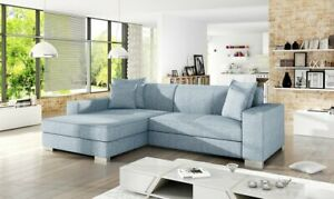 Brand New Modern sofa bed MEXICO ASH BLUE with sleeping function FAST DELIVERY