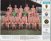 Football League Review 1970 / 71 No 520 - Exeter City, West Bromwich Albion
