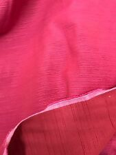 """Curtain Fabric Laura Ashley Pink Red Quality Satin Repp Weave 18 Metre Roll 54""""w"""