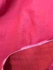 "Curtain Fabric Laura Ashley Pink Red Quality Satin Repp Weave 40 Metre Roll 54""w"
