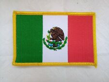 Mexican Flag Patch Iron-On Sew-On Embroidered Mexico Emblem (3½ x 2¼�)-New