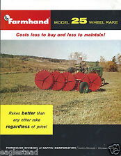 Farm Equipment Brochure - Farmhand - 25 - Wheel Rake (F4374)
