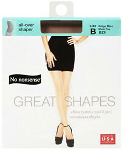 No Nonsense Great Shapes Body Shaping Pantyhose Size B Beige Mist New