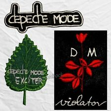 Set Depeche Mode Embroidered Patches Violator Rose Word Logo Exciter Leaf