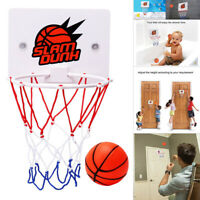 Kids Mini Basketball Hoop Toys Suck Wall-Mounted Stand with Pump Sport Tool Set