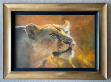 """Rolf Harris limited edition print """"Into The Sun"""" Sunset  lioness"""