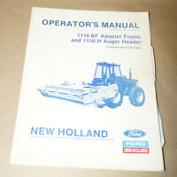 1989 Ford New Holland 1116-BF & 1116-H Operator's Manual P/N 43841100