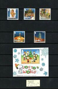 GIBRALTAR - 2003 Christmas set & MS MNH - below face price!