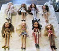 Bratz Doll Lot ~ 8 Fully Dressed Dolls with Footwear Lot (6)