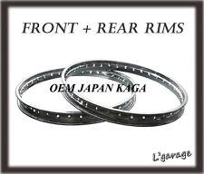 [LG3327] YAMAHA RD200 CS5 CS5E FRONT + REAR JAPAN KAGA RIM 2PCS