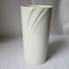Hutschenreuther Maxim`s De Paris Design-Vase weisses Porzellan oval Relief edel!
