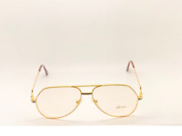 Vintage Hilton Exclusive 4 527 Gold Unisex Eyeglasses Optical Frame Lunettes RX