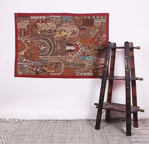 3x5 Feet Vintage Wall Hanging Embroidered Tapestry Runner