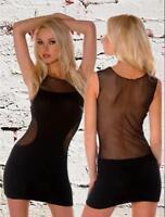 FOLTER Back in Business Netting Black Mini Dress