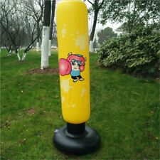 Inflatable Punching Bag Stand Boxing Power Tower Bags Speed Training Fitness Kid