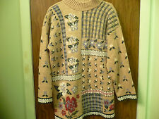 WOMENS THICK PULLOVER SWEATER 46 INCH ACROSS AND LENGTH  30 INCHES BEIGE
