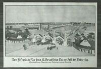 LPZ) Kunst Blatt Festplatz Turnfest Leipzig 1913 Architektur Scharenberg 24x34cm